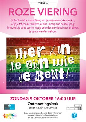 Poster roze viering