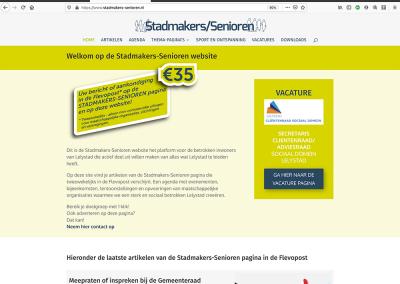 Stadmakers-Senioren website ontwerp